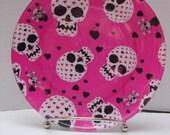 "Hearts of Skulls (7"" Decoupaged Plate)"