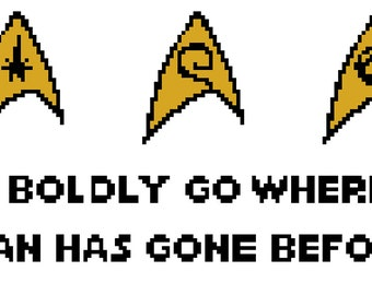 Star Trek Cross-Stitch Pattern