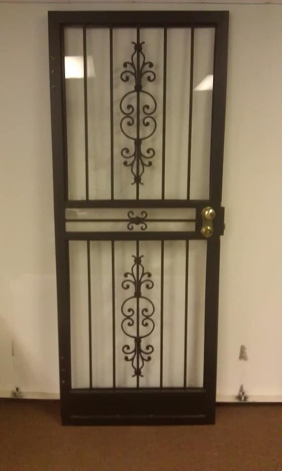 Steel Security Storm Door : Items similar to steel security storm door with matador