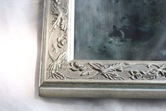 Unique Distressed Mirror - Hand Silvered Glass Mirror - OOAK Modern Minimalist Home Decor Urban Interior Design - Silence
