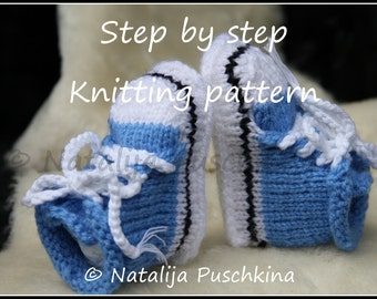 Knitting Pattern Baby Cowboy Booties : pattern on Etsy, a global handmade and vintage marketplace.