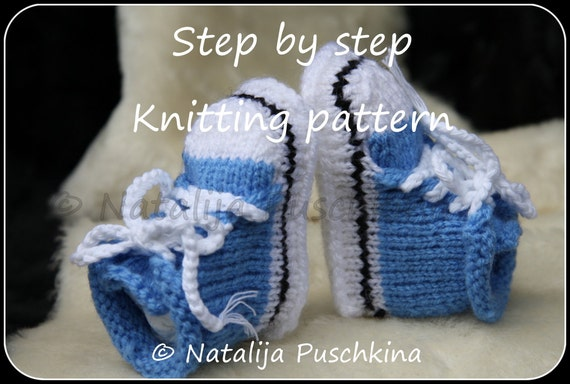 Knitting Pattern For Sandal Socks : Knitting pattern PDF Babies Shoes Socks by HandMadeByNatalija