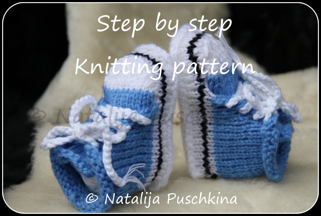 Knit Baby Shoes Pattern Free : Knitting pattern PDF Babies Shoes Socks by HandMadeByNatalija