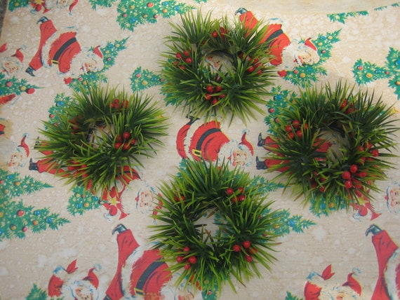 Vintage Christmas Candle Rings