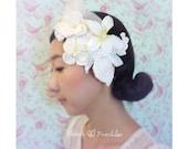 Bridal Hair Accessory, Wedding Headband, Wedding Rhinestone Headpiece, Bridal Hair Fascinator, Beads, Silk