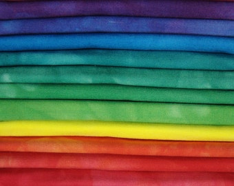 FREE SHIPPING - Hand Dyed Cotton Quilt Fabric - Prism