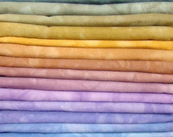 FREE SHIPPING - Hand Dyed Cotton Quilt Fabric - Change of Seasons