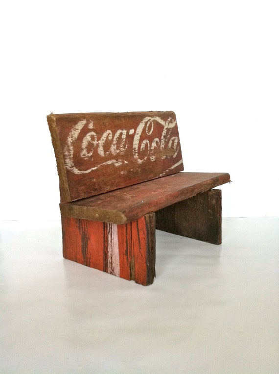 up-cycled coca cola box, now bench