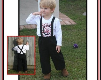 INSTANT DOWNLOAD Kids Overalls PDF Sewing Pattern David Pants by Nanoo Designs