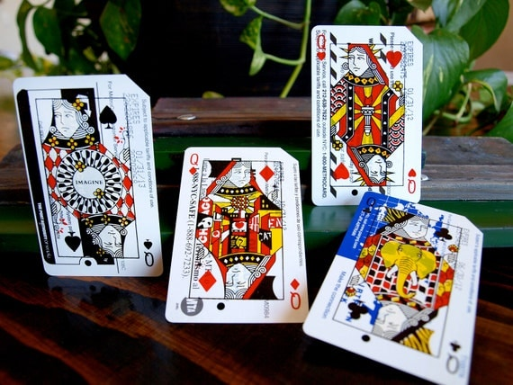 Metrodeck Playing Cards: Four of a Kind Queens Set