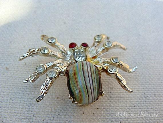 Vintage Brooch Spider