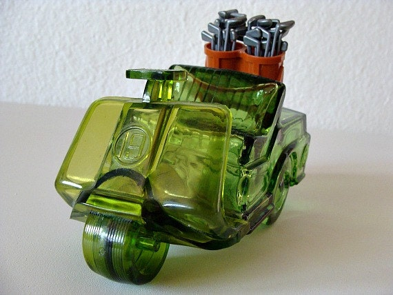 1970s Avon Green Bottle The Avon Open Golf Cart