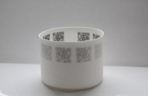 Candle holder. White stoneware English fine bone china tealight candle holder, small vase