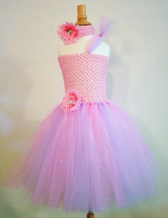 Baby Girls Pink Lavender Princess Tutu Dress - Infant thru Girls 8