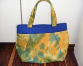 cotton purse/handbag bohemian casual style in green,blue and orange colors