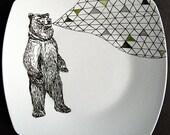 Geometric Singing Bear Illustrated Plate