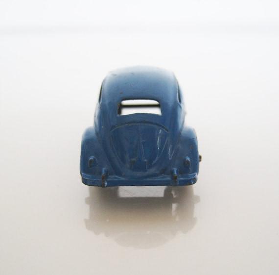 cool blue 1960's tootsie toy metal volkswagen toy car bug beetle VW
