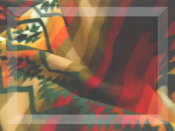 Vintage Queen Size Pendleton Wool Indian Design Blanket