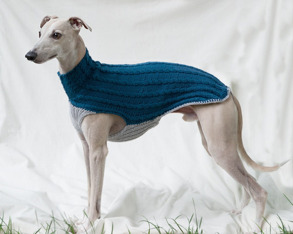 Cable Sweater for Italian Greyhounds & Whippets by SleepAndHound