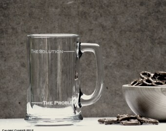 The Solution beer stein by Caloric Cuvee - groomsmen gift - gift for boyfriend - gift for dad - Made in the USA