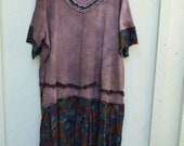 Chocolate Rain/ 3X / Dress / Hand-dyed / One of a kind by FourX