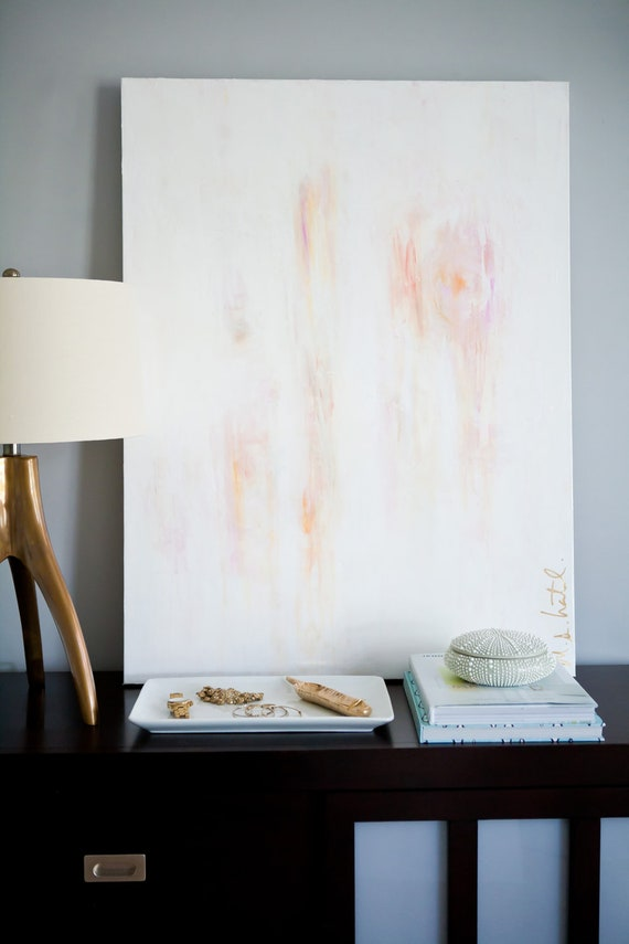 30x40 Light White Abstract