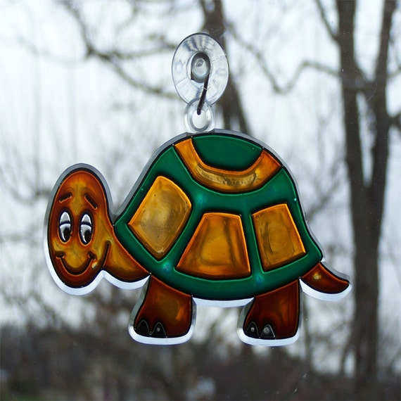 Sun Catcher - Hand Painted Turtle - Home Decor