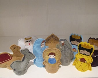Nativity Flameless Tealight Covers
