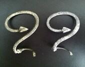 Pierced Snake Ear Cuff- BRONZE