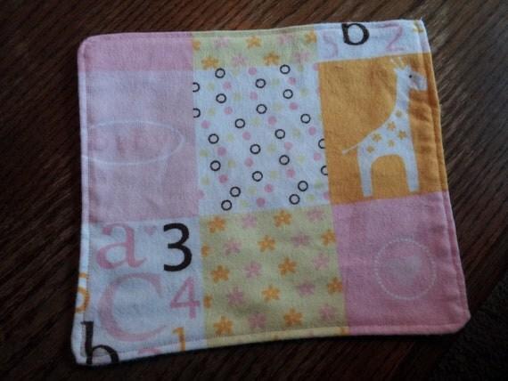 Pink Giraffe Cloth Baby Wipes