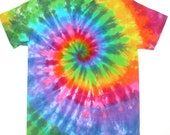 ON SALE: Adult Small/ Tie Dye Shirt/ Classic Rainbow Spiral