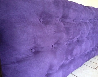 Queen Size Purple Suede Headboard
