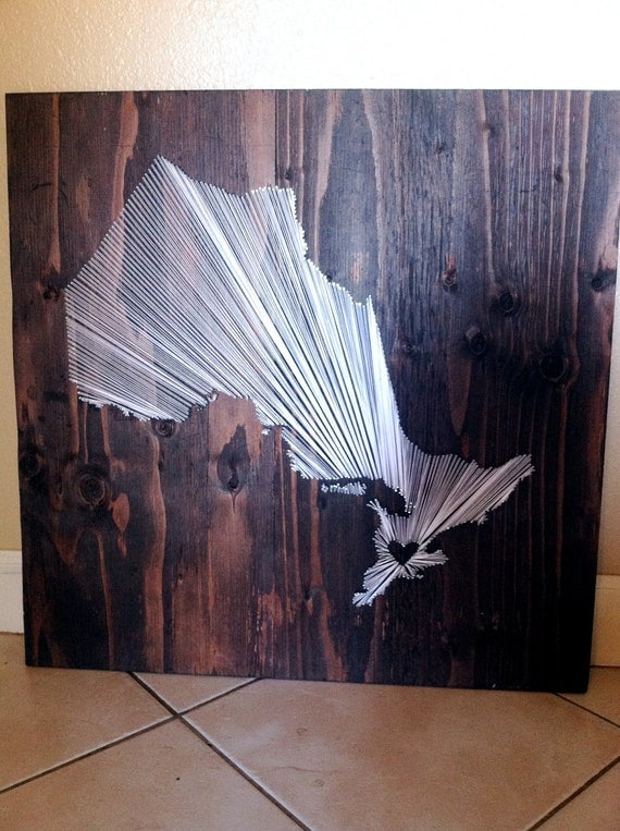 20x20 - Country String Art - Ontario - Wall Hanging - Home Decor