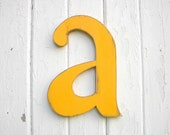 Alphabet letter a, nursery shabby chic wood signs kids wall art decor - LettersofWood