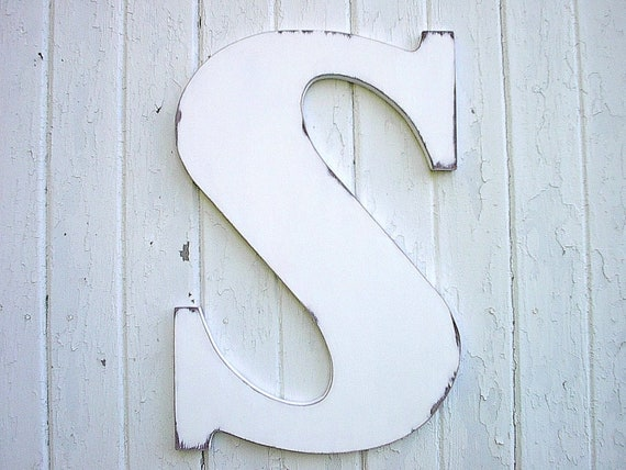 wooden letters s 24 inch white guest book alternative white shabby chic wall decor