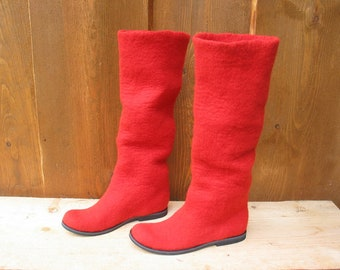 Felted boots SIMPLY RED