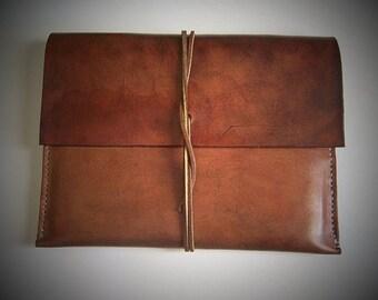 Leather Ipad Sleeve/ Case/ Envelope for iPad AIR or iPad 3. Full Grain Leather. Handmade by BayTowneLeatherUSA.
