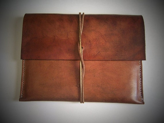 Leather Ipad Sleeve/ Case/ Envelope for iPad AIR or iPad 3. Full Grain Leather. Handmade by BayTowneLeatherUSA.