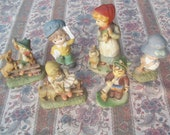 Vintage set of 6 collectible figurines