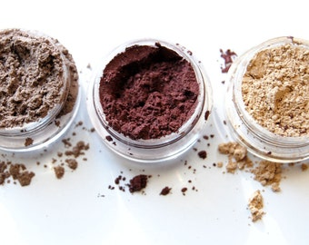 Mineral Eyeshadow - 3pc FAVES Collection Pure Natural Vegan Mineral Makeup