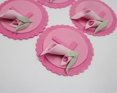 Edible Fondant Cupcake Toppers - 12 qty Calla Lily cupcake toppers, floral cupcake toppers for bridal shower, baby shower, birthday wedding