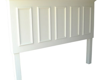 Headboards made from doors - Extended King size headboard with legs - popcorn white