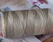 Linen Threads 0,7 mm Natural Grey Spool 180m / 200 yds for Jewellery Sewing Embroidery