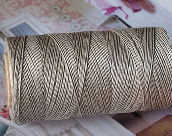 Linen Threads 0,4 mm Natural Light Grey Spool 200 m for Jewellery and Embroidery Organic Thread