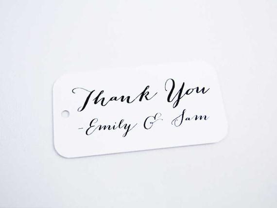 Thank You Tag - Wedding Favor Tags - Custom Thank You Tags - Party Favor Tags - Bridal Shower Tags - Product Thank You Tags