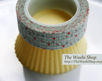 Love Hearts Washi Tape