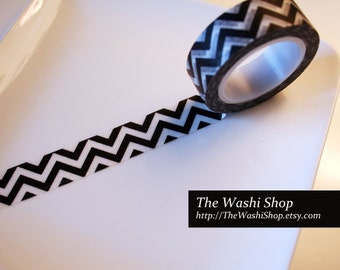 Black Chevron Washi Tape