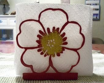 Napkin Holder - Metal - Flower - By PrecisionCut