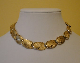 1960s Art Deco Style Goldtone Necklace signed ART