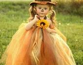 Scarecrow girls halloween tutu dress- sizes 0 to 2T